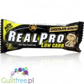 All Stars Real Pro Low Carb Bar, Czekolada & Banan, baton 42% białka