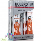 Bolero Sticks ze stewią, Red Orange, 12 saszetek na 6L