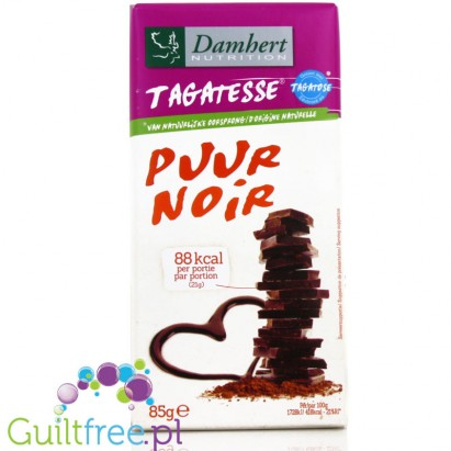 Damhert dark chocolate without sugar, with tagatose