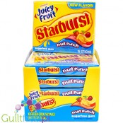 Starburst Juicy Fruit Fruit Punch sugar free chewing gum