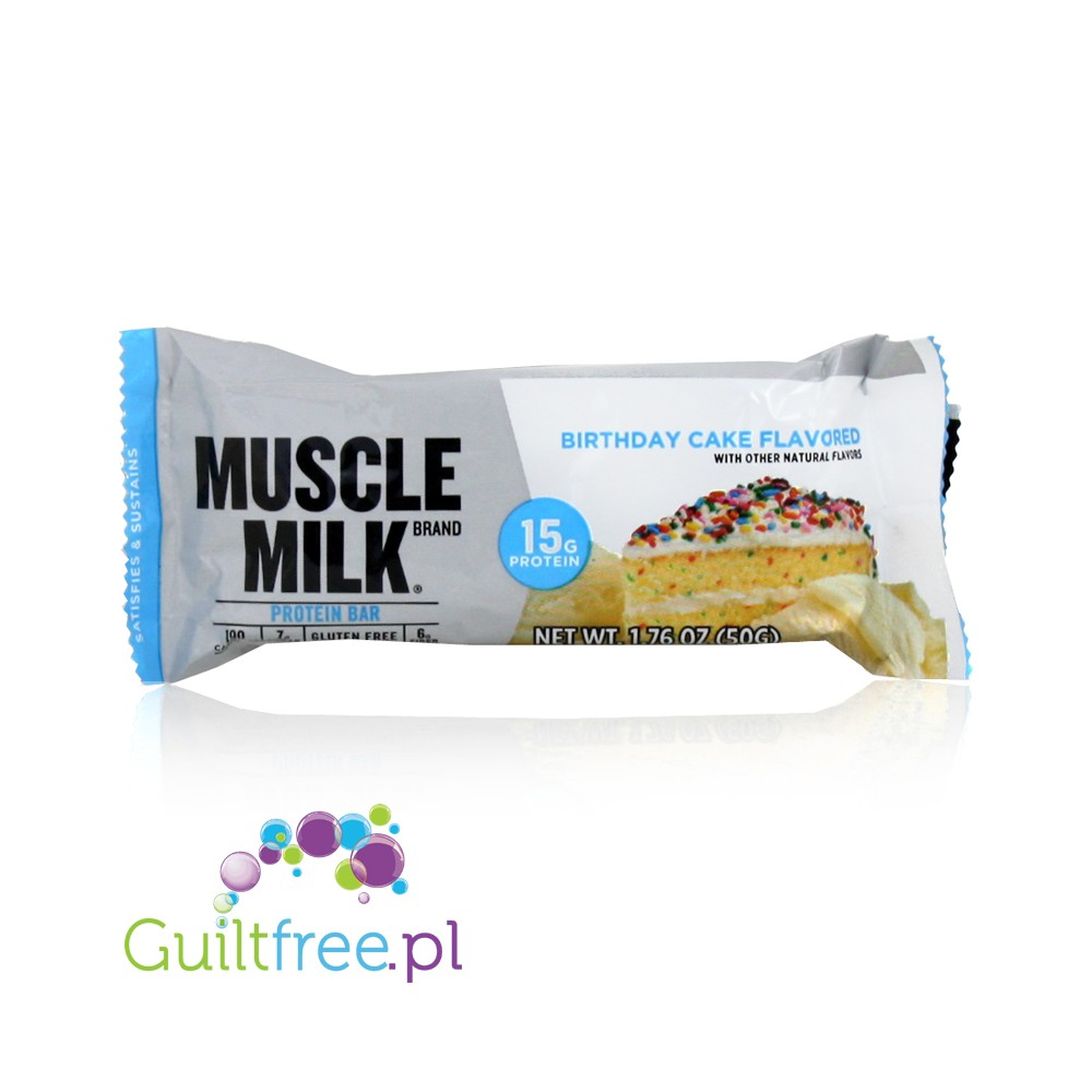 Muscle Milk Birthday Cake Flavor High Protein Bar Loading Zoom