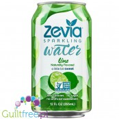 Zevia Sparkling Water Lime - carbonated soft drink with natural lime flavor, contains sweetener