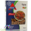 Italian penne with reduced carbohydrate content