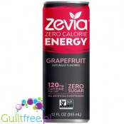 Zevia Energy Grapefruit - a carbonated sugar-free drink with a grapefruit flavor, contains a sweetener (stevia)