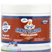 Franky's Bakery Candy Flavor Powdered Food Flavoring, American Brownie - powdered food flavor chocolate cake, without sugar, con