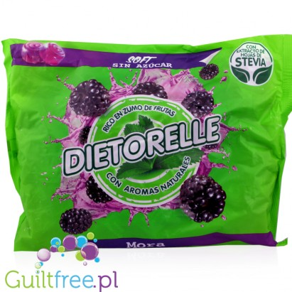 Gum Candies With Sweeteners Blackberry Flavors - Gluten-free sugar-free jelly beans, contain sweeteners