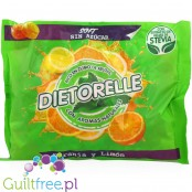 Gum Candies With Sweeteners Orange And Lemon Flavors - Gluten-free orange-lemon jelly candies without sugar, contain sweeteners