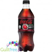 Coca Cola Cherry Zero sparkling low calorie cherry flavored soft drink