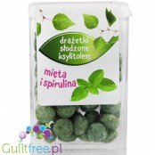 Santini - Sweets sweetened with xylitol with a taste of mint and spirulina