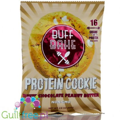 Buff Bake Protein Cookies, White Chocolate Peanut Butter