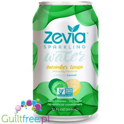 Zevia Sparkling Water Cucumber & Lemon