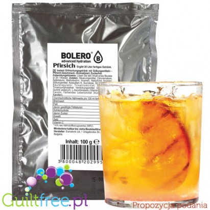 Bolero Drink Instant Fruit Flavored Drink with sweeteners Peach