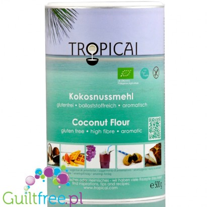 Tropicai defatted organic coconut flour