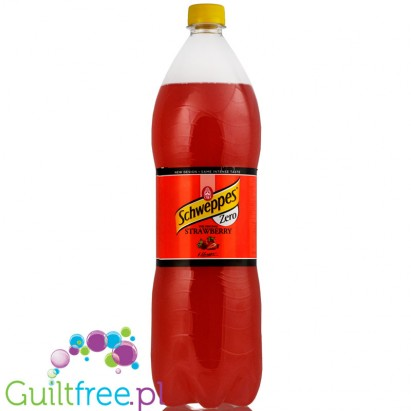 Schweppes Zero Strawberry napój 1,5L
