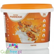 Feel Free Porridge, Toffee Cream 34g protein, with BCAA and HMB