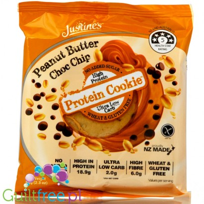 Justine's Cookies Protein Cookie Peanut Butter Choc Chip
