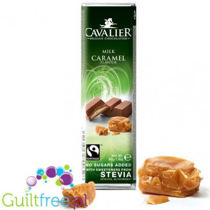 Cavalier Stevia milk chocolate with caramel filling 85g