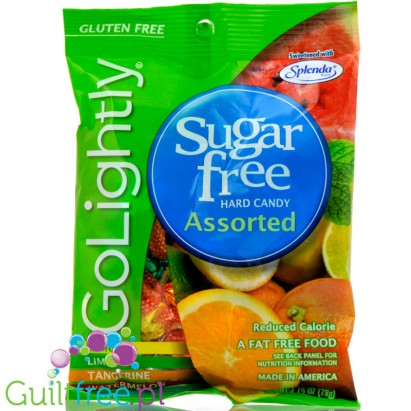 GoLightly Sugar Free Assorted Candy - Peg Bag 78g