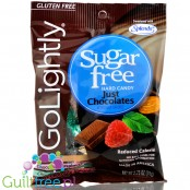 GoLightly Sugar Free Candy - Just Chocolates Peg Bag 78g