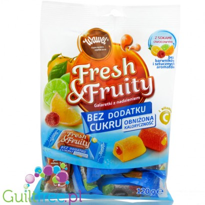 Wawel Fresh & Fruity sugar free jellies with fruity filling