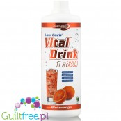 Vital Drink Blood Orange 1L - koncentrat bez cukru z L-karnityną i witaminami