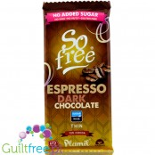 Plamil So Free Espresso Vegan Chocolate without sugar with xylitol 72% cocoa, contains sweeteners, 80g