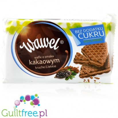 Wawel cocoa waffers no added sugar, 110g