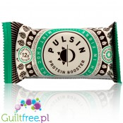 Pulsin Mint Choc Chip is rich in fiber vegan protein bar