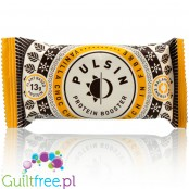 Pulsin Vanilla Choc Chip is rich in fiber vegan protein bar
