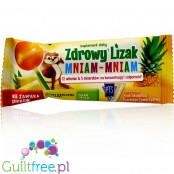 Mniam sugarfree pineapple lollipop with stevia and xylitol