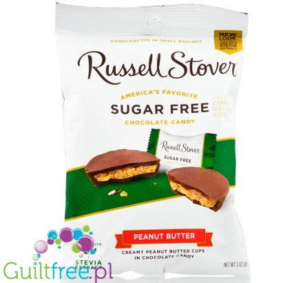 Russel Stover chocolate peanut butter cups, sugar free