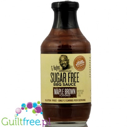G. Hughes BBQ Maple Brown sugar free barbecue sauce