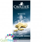Cavalier no sugar added white chocolate with maltitol