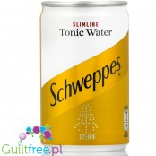Schweppes Slimline Tonic - carbonated low-calorie refreshing drink with quinine, no sugars contain sweeteners