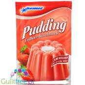 Komet, sugar free and sweetners free Strawberry pudding