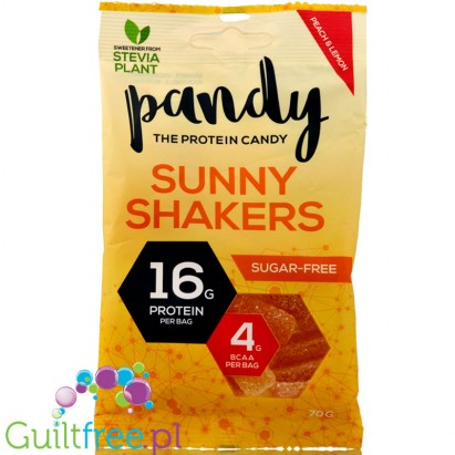 Pandy Protein Synny Shakers - fruit-flavored jelly without sugar, with protein and amino acids, contain sweeteners