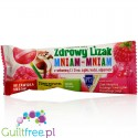 Healthy lollipop Yum-yum sweetened with xylitol and stevia with dried raspberries