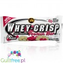 All Stars Whey Crisp White Chocolate Raspberry Crunch - crunchy protein white chocolate bar and biscuits