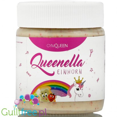 GymQueen Queenella Unicorn White Chocolate Coconut Protein Spread no added sugar