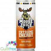 Moose Juice Extreme Energy Passion Fruit sugar free energy drink