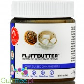 D's Naturals Fluff Cocoa Glazed Cinnamon Roll vegan protein peanut butter with xylitol