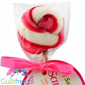 Santini lollipop sweetened with strawberry-flavored xylitol