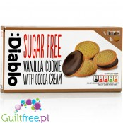 Diablo sugar free vanilla sandwich cookies with cocoa cream