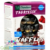 Tagatesse waffles with chocolate coating, sweetened with tagatose
