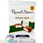 Russell Stover Sugar Free Coconut Bag Peon covered in Chocolate Candy