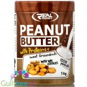 Real Pharm protein peanut butter with WPC, Cookies, 1kg