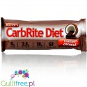 Doctor`s CarbRite high protein bar with pieces of sugar-free coconut