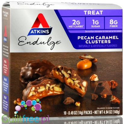 Atkins Treat Endulge Pecan Caramel Clusters