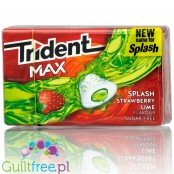 Trident Max Splash Strawberry Lime  guma do żucia bez cukru