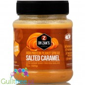 Dr. Zak's high protein peanut spread salted caramel - peanut butter with whey protein isolate, salted caramel flavor